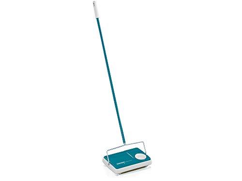 Leifheit Teppichkehrer Regulus Türkis für die schnelle Reinigung, Teppichreinigung verschiedener...