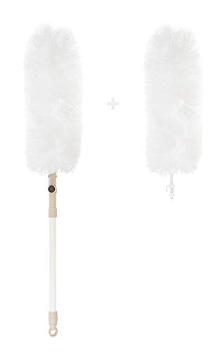 KREHMANN Staubwedel I waschbar und ausziehbar 100cm I antistatische Mikrofasern, extra Langer Duster...