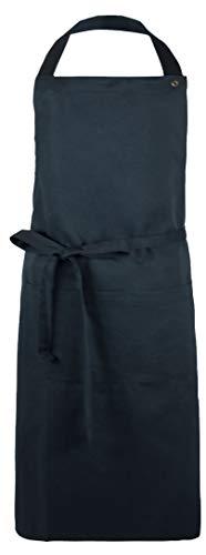 ZOLLNER Kochschürze verstellbar aus Baumwolle, 75x100 cm, schwarz (UVM.)