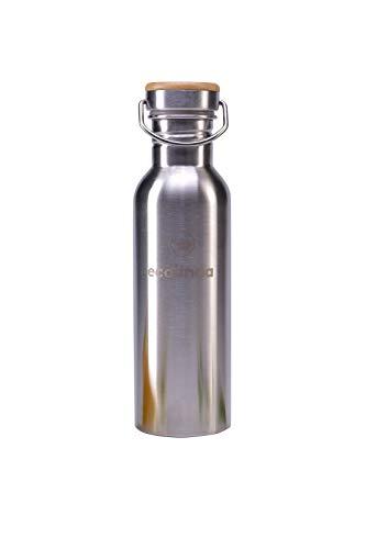 ecolinda Trinkflasche Edelstahl 750ml matt   Edelstahl Trinkflasche auslaufsicher & Trinkflasche...