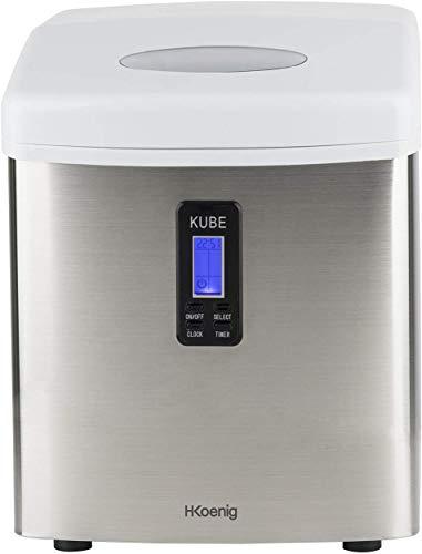 H.Koenig KB15 Eiswürfelmaschine KB15-ca. 15 kg Eiswürfel pro Tag-Produktionszeit 6-13 min. -3...