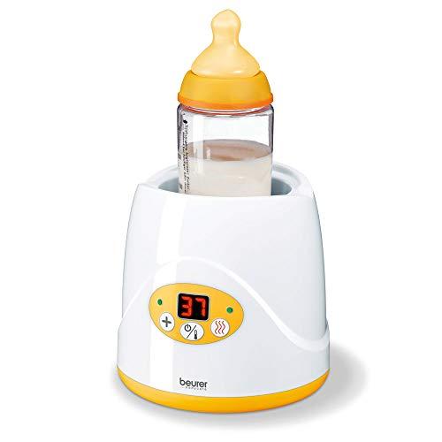 Beurer BY 52 Babykost- und Fläschchenwärmer, zum Erwärmen und Warmhalten von Babynahrung, 8...