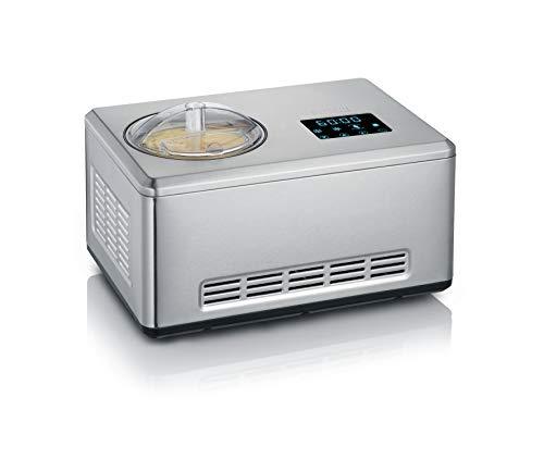 Severin 2-in-1 Eismaschine mit Joghurtfunktion, Inkl. Eisbehälter (2L) und Rezeptbuch, Digitaler...