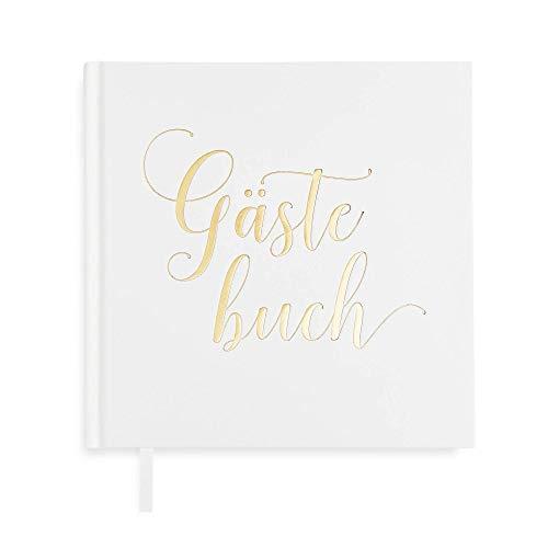 Plantvibes ® Edles Gästebuch, 72 Seiten, Hardcover, hochwertiges Papier, Vintage Guest-Book für...