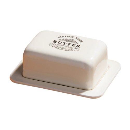 Premier Housewares Vintage Home Butterdose, Cremefarben