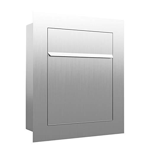 Unterputz-Briefkasten, Design Einbaubriefkasten Bari Edelstahl - Bravios
