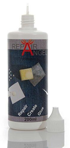 Repair Angel Textilkleber waschmaschinenfest transparent für Stoffe Leder Jeans Leder 200ml