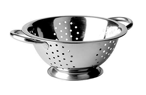 KADAX Nudelsieb aus Edelstahl, Durchschlag, Seiher, Sieb für die Küche, Küchensieb, Filter, Zwei...