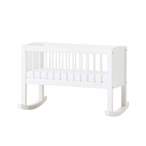 Hoppekids Wiege/Bank umbaubar zur Sitzbank, Kiefer massiv/MDF, Liegefläche 80 x 40 cm, Holz, weiß,...