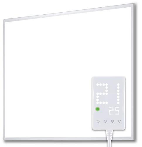 Heidenfeld Infrarotheizung HF-HP100 300 Watt Weiß - inkl. Thermostat - 10 Jahre Garantie - Deutsche...