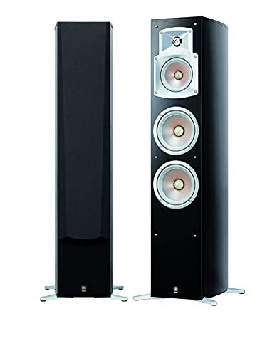 Yamaha NS 555 Stand Lautsprecher System (3-Wege Bassreflex, Waveguidehorn, 100W) klavierlackschwarz,...
