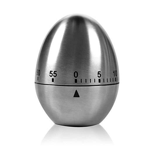 """TURATA Zeitmesser Küche Kurzzeitmesser """"Ei"""" Küchentimer Eiförmige lustige Eieruhr Edelstahl..."""