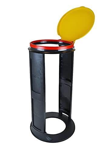 Gies Müllsackständer, ø 41 x 12,5 cm BPA frei gelb-Made in Germany