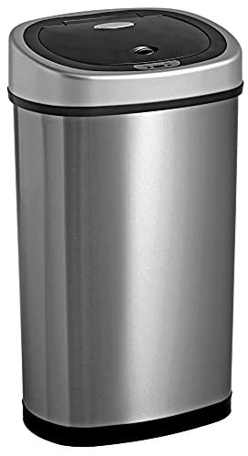 Homra Fonix 50 Liter - Luxus Mülleimer mit Sensor - Elektrischer Mülleimer 50L, 1 Fach Abfalleimer...