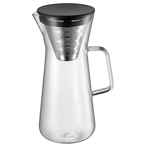 WMF CoffeeTime Pour Over Kaffeezubereiter 900ml, für 6 Tassen, Aromawaben-Filter, Jug, Höhe 27 cm,...