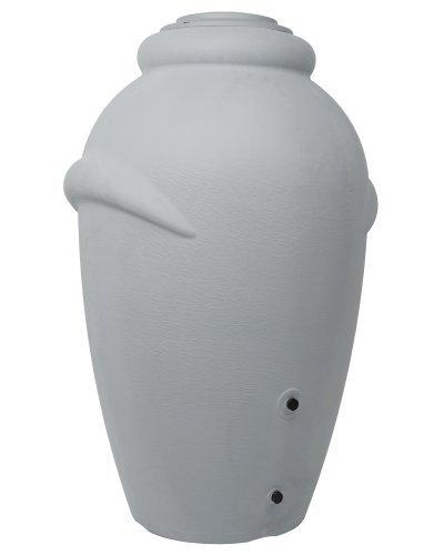 Ondis24 Regentonne Regenfass Regenwassertonne Wasserbehälter Amphore Grau 360L aus stabilem...