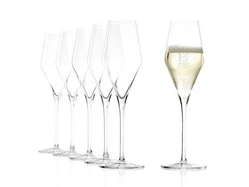 Stölzle Lausitz Champagnergläser Quatrophil 290ml I Champagnerkelche 6er Set bruchsicher I...