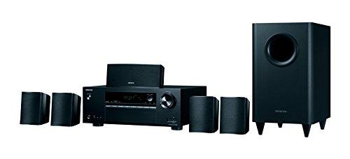 Onkyo HT-S3800(B) 5.1 Heimkinosystem mit AV Receiver und Lautsprecher (Dolby Atmos, 100 W/Kanal,...