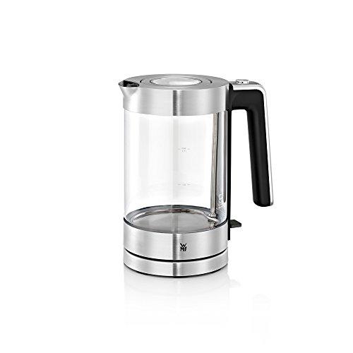 WMF Lono Wasserkocher Glas (3000 W, 1,7l, Schott Duran Glas, Kalk-Wasserfilter) cromargan...