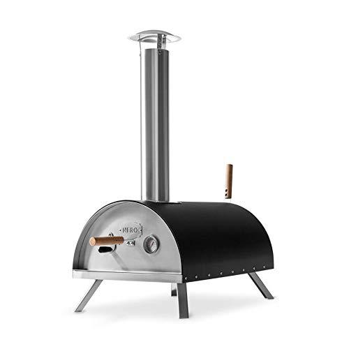 Burnhard Edelstahl Outdoor Pizzaofen Nero inkl. Pizzaschieber & Pizzastein, hochwertiger...