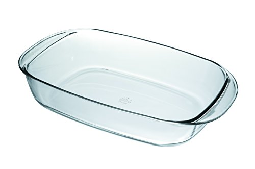 Duralex Eckige Auflaufform / Gehärtetes Glas / 38 x 23 cm / Hitzebeständiges Ofengeschirr /...
