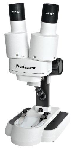 Bresser junior Stereo 3D Mikroskop mit 20x Vergrößerung für Kinder und Erwachsene für die...