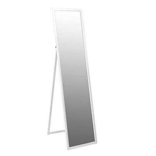 Harbour Housewares Rechteckiger Hochspiegel mit Metallrahmen - Weiß