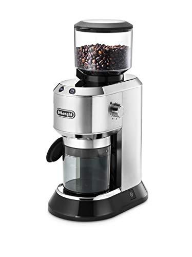 De'Longhi Dedica KG 520.M Elektrische Kaffeemühle, Vollmetallgehäuse, edelstahl Kegelmahlwerk,...