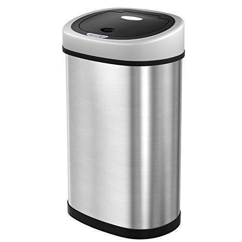 SONGMICS Sensor Mülleimer 50L Abfalleimer Automatik Abfallbehälter Müllbehälter für Küche...