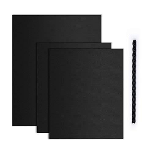 OUTERDO Dauerbackfolie für Backofen (3er Set), Backpapiere& Hitzeschutzleiste, hochwertig...
