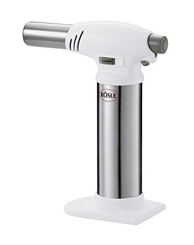 Rösle Flambierbrenner - Gasbrenner zum Flambieren von Speisen - bis zu 1300°C - ABS, Edelstahl...