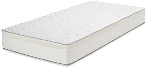 AmazonBasics Extra Komfort Frühlingsmatratze mit sieben Zonen weich, 90 x 200 cm - soft