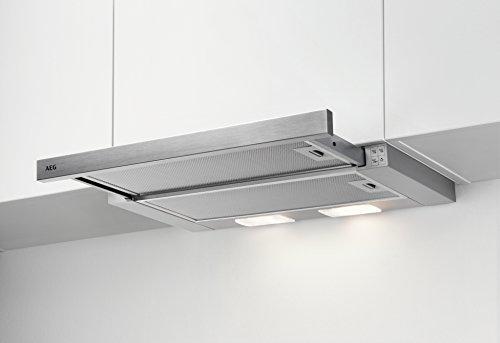 AEG DPB2621S Flachschirm-Dunstabzugshaube / Abluft oder Umluft / 60cm / Silberfarben / max. 120...