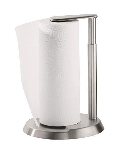 RÖSLE Papierrollenhalter stehend, Hochwertiger Küchentuchhalter aus Edelstahl 18/10, für alle...
