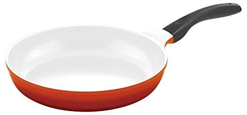 Steuber Culinario 051563 Bratpfanne ø 28 cm mit Induktionsboden, rot/weiß