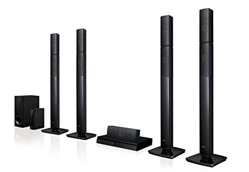 LG LHB655NW Heimkinosystem mit kabellosem Rear-Lautsprecher (3D Bluray Player, DLNA, Smart TV,...