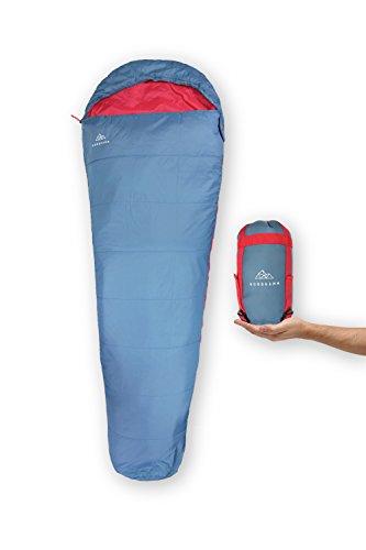 NORDKAMM - Schlafsack Ultraleicht, rechts, dünn, leicht, für Erwachsene, für Camping, Outdoor,...