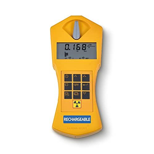 GAMMA-SCOUT® Rechargeable | Geigerzähler für Radioaktivität mit wiederaufladbarem Akku,...