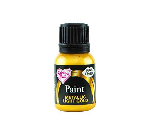 Rainbow Dust Metallic-Lebensmittelfarbe Gold Light, 1er Pack (1 x 25 g)