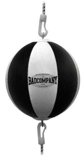 Bad Company Doppelendball aus Kunstleder inkl. elastischen Spanngurten I 25 cm Durchmesser I Boxball...