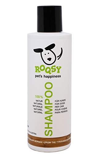 ROQSY Natur Hundeshampoo vegan Naturshampoo für Hunde Aller Rassen, Größen und Fellfarben; gegen...
