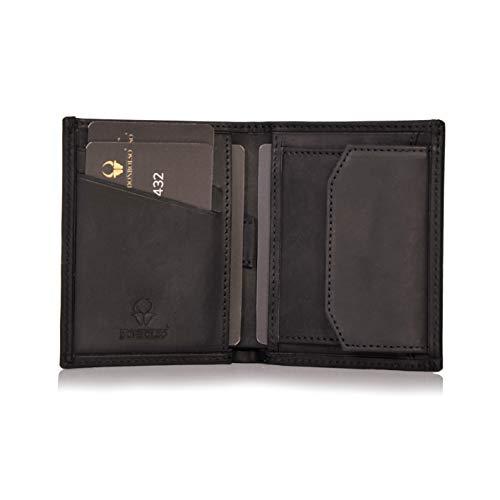 DONBOLSO® Rom I Mini Geldbörse mit RFID-Schutz I Slim Wallet mit Münzfach I echtes Leder I...