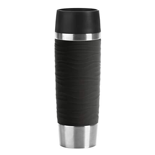Emsa N2011900 Travel Mug Wave-Design Thermobecher/Isolierbecher (500 ml, hält 6h heiß/ 12h kalt,...