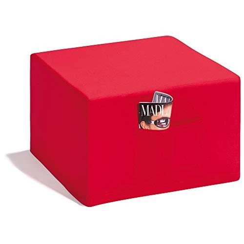 Badenia Bettcomfort Madrid Klappmatratze, Gästebetthocker, mit roter Husse, 6 teilig, rot