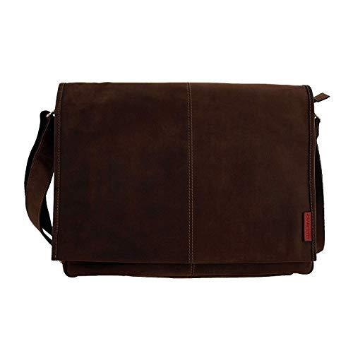 Laptoptasche Messenger-Bag aus geöltem Buffalo Leder 42x29x9 cm. Extremely rugged Outback...