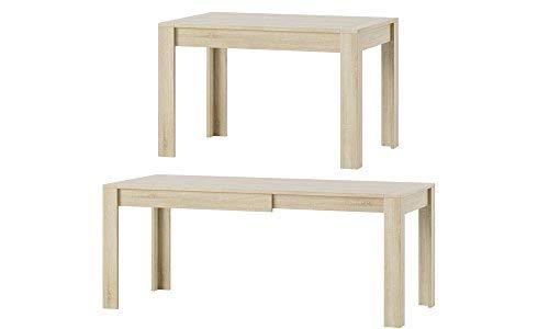 MPS praktisch Tisch SYRIUS 120-190 x 80 x 76 cm (L x B x H) im Eiche Sonoma für Esszimmer, 4-8...