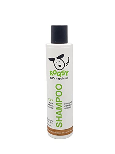 ROQSY Natur-Hundeshampoo 200ml, Vegan, Bio, Naturprodukt für Welpen, Sensible Haut, Allergiker,...