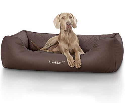 Knuffelwuff orthopädisches Hundebett Madison aus Kunstleder Hundekorb Hundesofa Hundekissen...