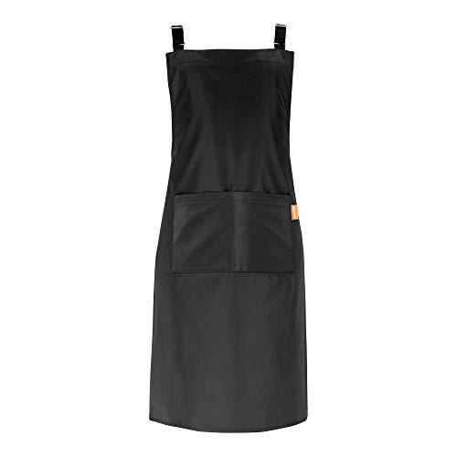 MONDZUCKER wasserdicht Schürze, Kochschürze mit 2 großen Taschen, Küchenschürze mit...