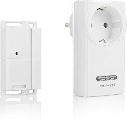 Smartwares Funk-Abluftsteuerung mit Fenster-Magnetkontakt und Funksteckdose für Dunstabzugshaube,...